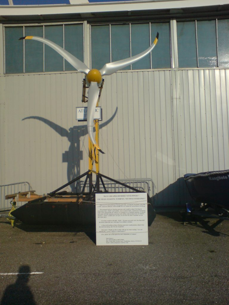 A novel wind turbine for alt energy production