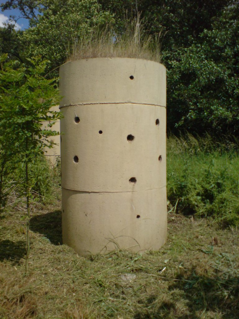 Sand Martin tower for mitigation